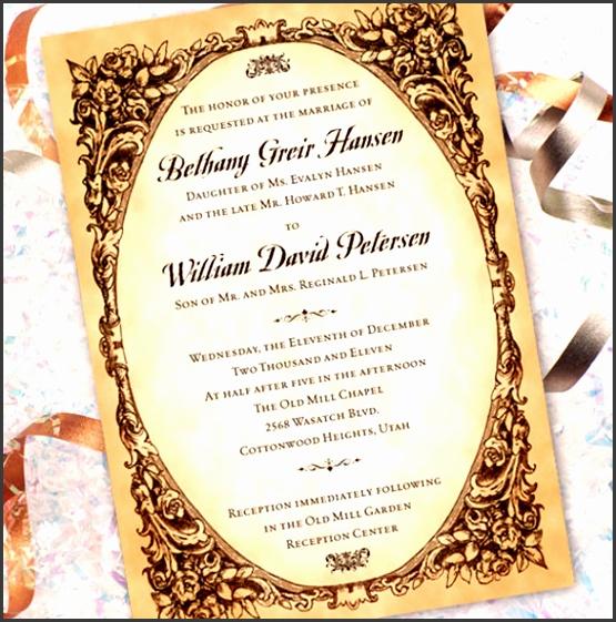 Elegant Wedding Invitations Templates 31 Elegant Wedding Invitation Templates Free Sample Example