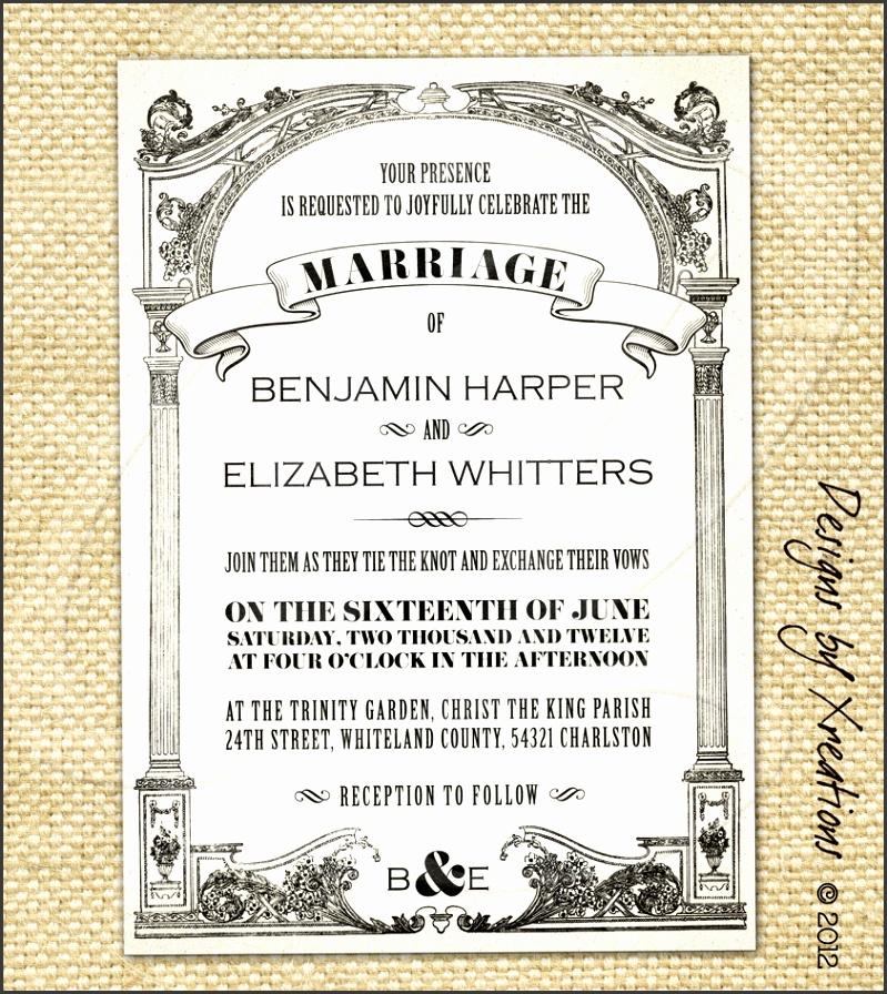 Vintage Wedding Invitations Vintage wedding invitation templates free wedding invitation samples by mail