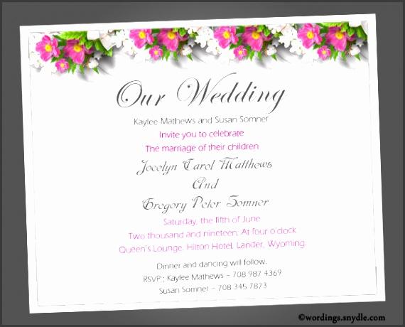 Wedding Invitation Msg Wedding Invitation Message Wedding Invitation Message With Some