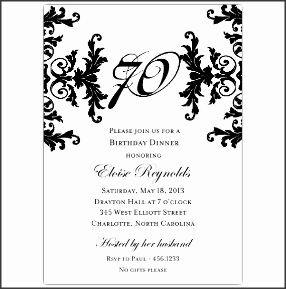 invitations word template