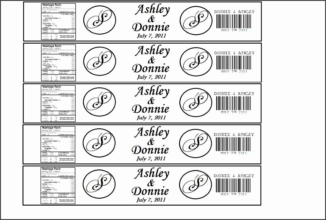 The Hillbilly Princess Diaries DIY Personalized Water Bottle Labels AvdDDFnL