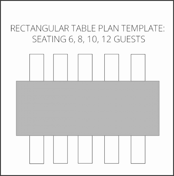 Wedding Seating Plan template to help visualise your table plan rectangular tables by