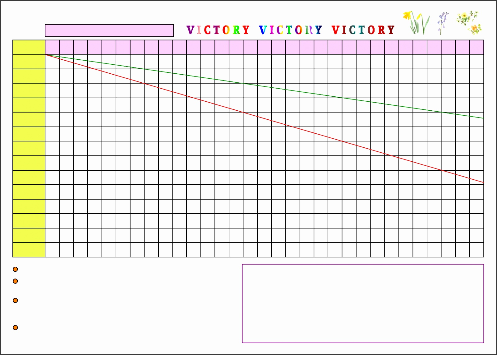 Weight loss chart template Free