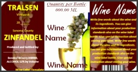 Free Editable Download in MS Word Wine Label Template Great for parties customize and add
