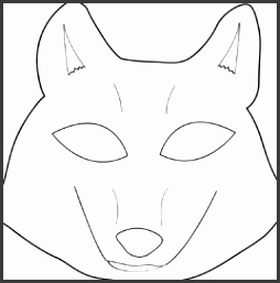 Best s Wolf Mask Template Printable Wolf Mask Printable