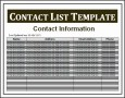 6  Word Contact List Template