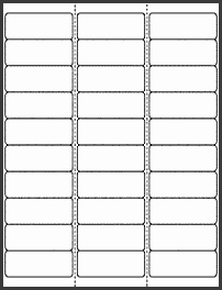 "OL875 2 625"" x 1"" Blank Label Template for Microsoft Word"