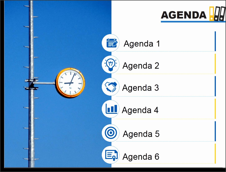 Need more design ideas for Agenda Slide