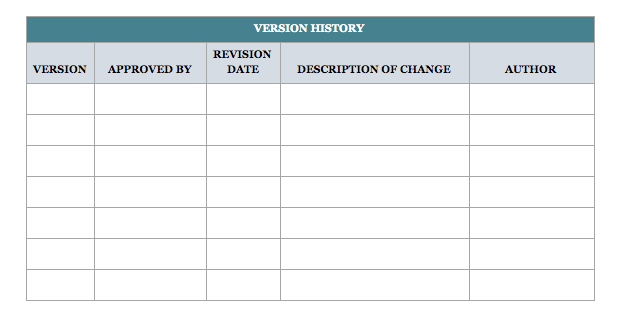 Standard Operating Procedure Template Download Free