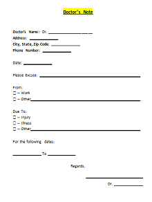 50 Fake Doctors Note Templates For School Work Excelshe