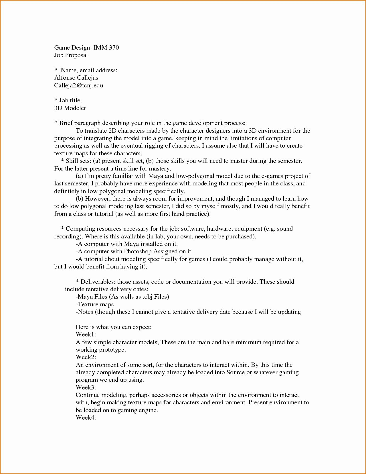 Template For Job Proposal Unique 4 Job Proposal Sample In 2020 Proposal Templates Business Proposal Template Free Proposal Template