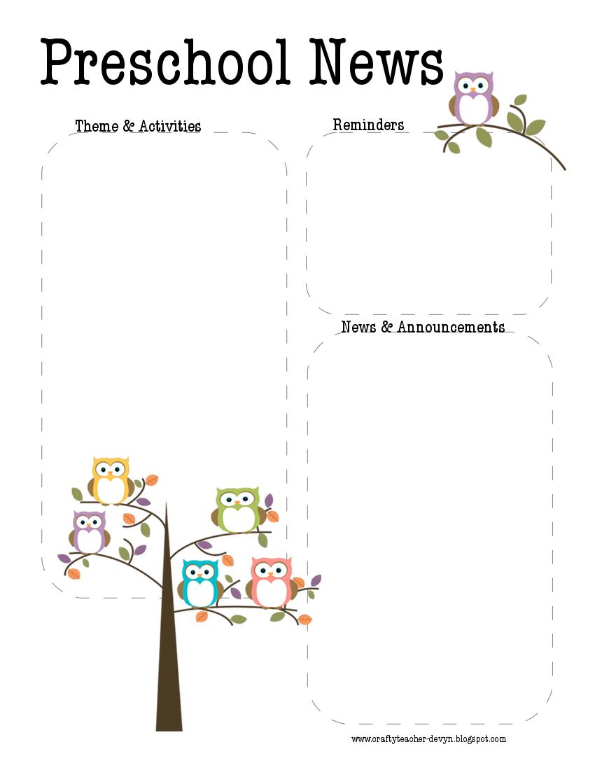 54 Awesome Kindergarten Newsletter Template Benchwarmerspodcast