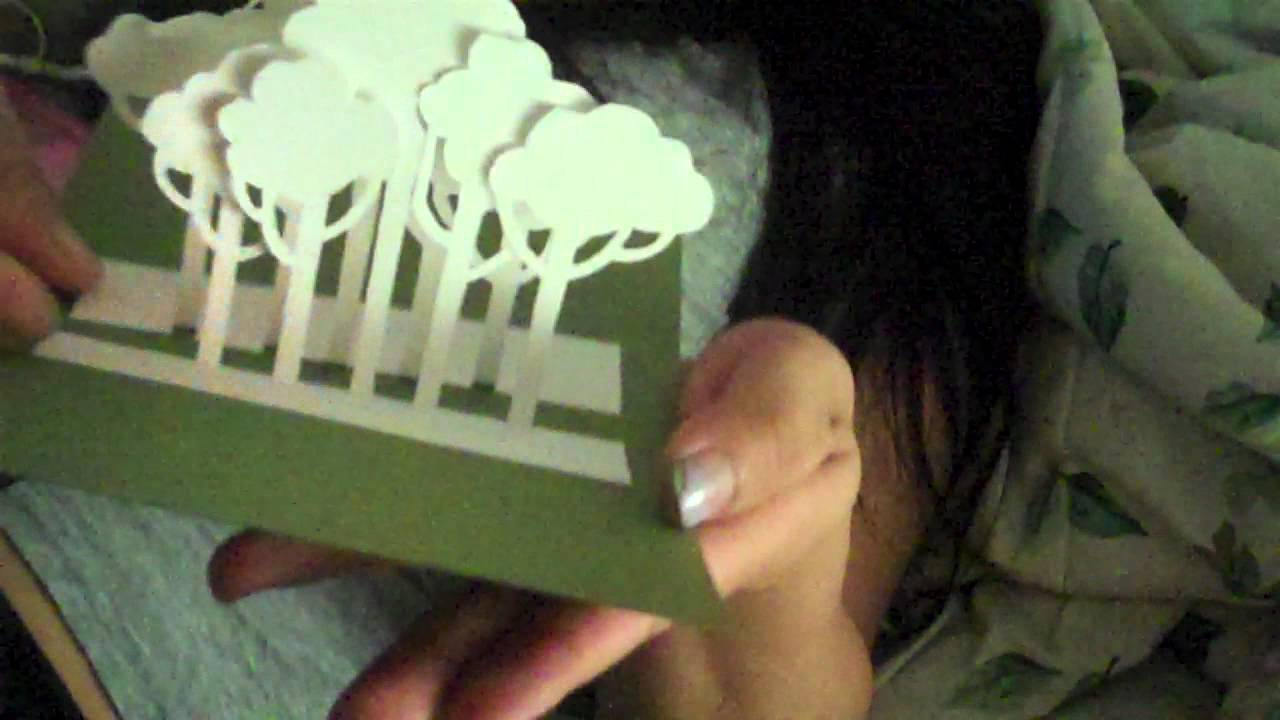 Tutorial Template Tree Pop Up Card Youtube
